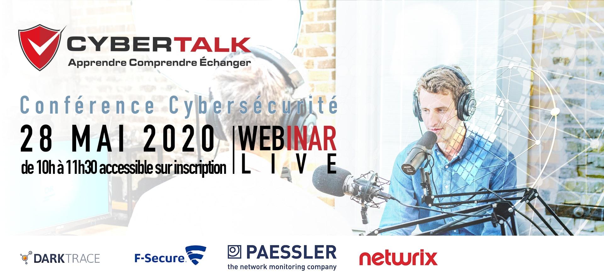 Bannière webinar Cybertalk 28 mai 2020